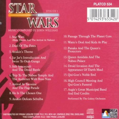 Bild 2: John Williams, Starwars-Episode I-Tribute by The Galaxy Orchestra (1999)
