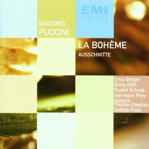 Bild 1: Puccini, La bohème-Szenenfolge (EMI, 1955, in German) Orch. der Städtischen Oper Berlin/Schüchter, Erna Berger, Rudolf Schock, D. Fischer-Dieskau..