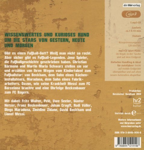 Bild 3: Christian Bärmann/Martin Maria Schwarz, Fussball-Legenden (mp3-CD, hr2 kultur)