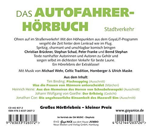 Bild 2: Autofahrerhörbuch, Stadtverkehr (Sprecher: Christian Brückner, Stephan Schad, Peter Franke, Bernd Stephan)