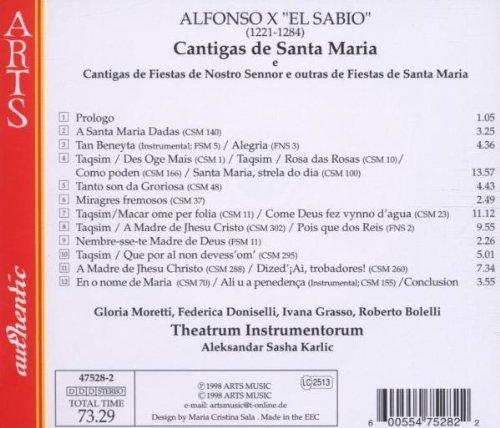 Bild 2: Alfonso X 'El Sabio', Cantigas de Santa Maria.. (Arts, 1998) Theatrum Instrumentorum/Karlic