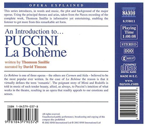 Bild 2: Puccini, La bohème-An introduction to (Opera explained, 2002, Naxos, narrator: David Timson)