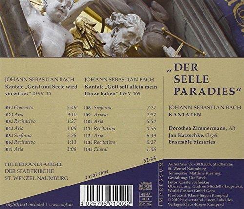 Bild 2: Bach, Der Seele Paradies-Kantaten, BWV 35, 169 (VKJK, 2007) Dorothea Zimmermann, Jan Katzschke, Ensemble bizzaries