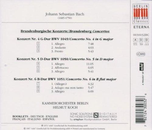 Bild 2: Bach, Brandenburgische Konzerte Nr. 4-6 (Berlin Classics/ETERNA, 1972) Kammerorch. Berlin/Koch