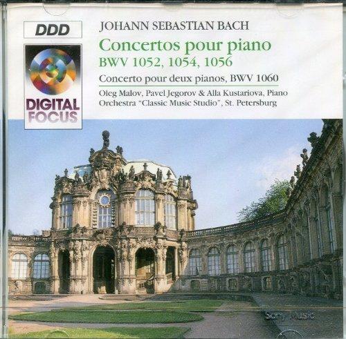 Bild 1: Bach, Concertos pour piano, BWV 1052, 1054, 1056/deux pianos, BWV 1060 (Digital Focus, 1993) Pavel Jegorov, Oleg Malov, Alla Kustariova, Orch. 'Classic Music Studio', St. Petersburg/Titov