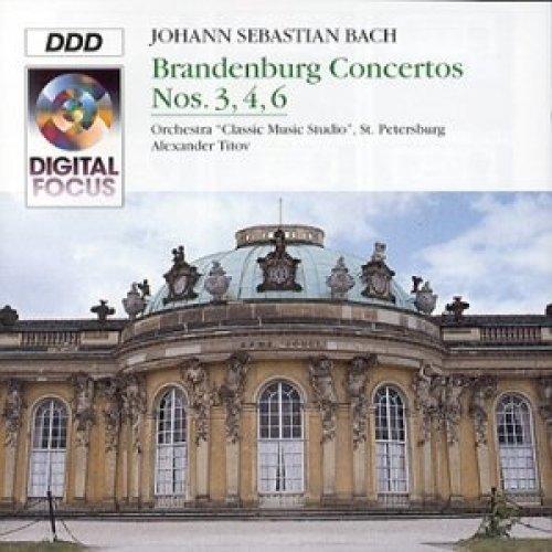 Bild 1: Bach, Brandenburg concertos Nos. 3, 4, 6, BWV 1048, 1049, 1051 (Digital Focus, 1993) Orch. 'Classic Music Studio', St. Peterburg/Titov