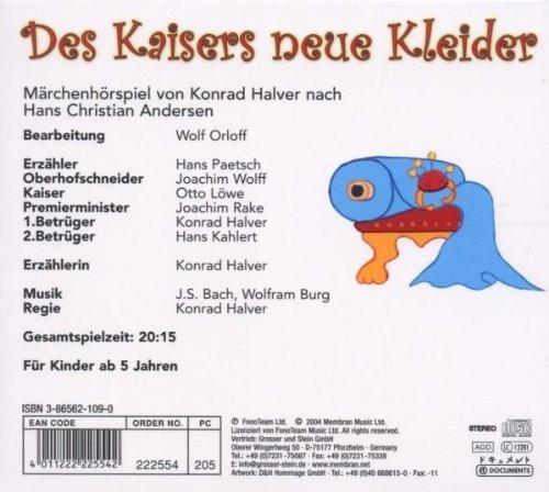 Bild 2: Hans Christian Andersen, Des Kaisers neue Kleider (Märchenhörspiel von Konrad Halver mit Hans Paetsch..)