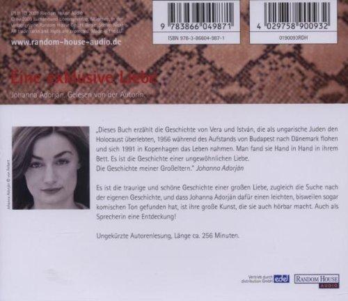 Bild 2: Johanna Adorján, Eine exklusive Liebe (Autorenlesung)