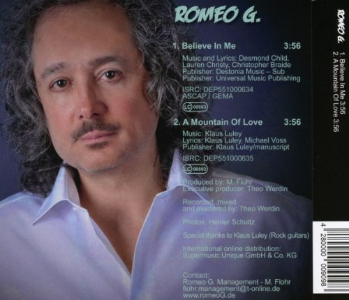 Bild 2: Romeo G., Believe in me/A mountain of love