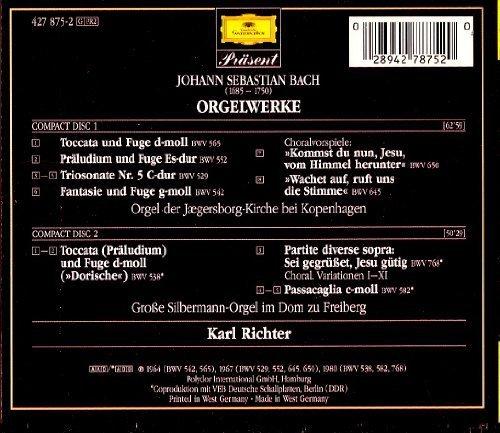Bild 2: Bach, Orgelwerke (DG) Karl Richter