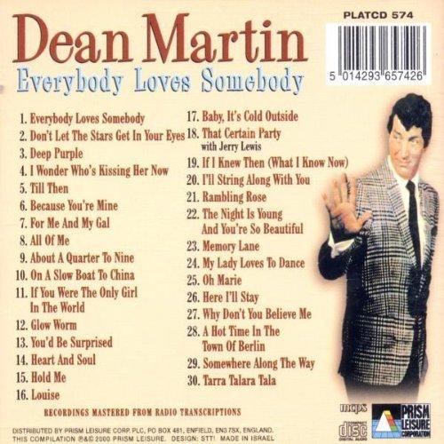 Bild 2: Dean Martin, Everybody loves somebody (30 tracks, compilation, 1998)