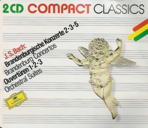 Image 1: Bach, Brandenburgische Konzerte Nr. 2, 3, 5, BWV 1047, 1048, 1050/Ouvertüren Nr. 1, 2, 3, BWV1066, 1067, 1068 (DG) Münchner Bach-Orch./Richter