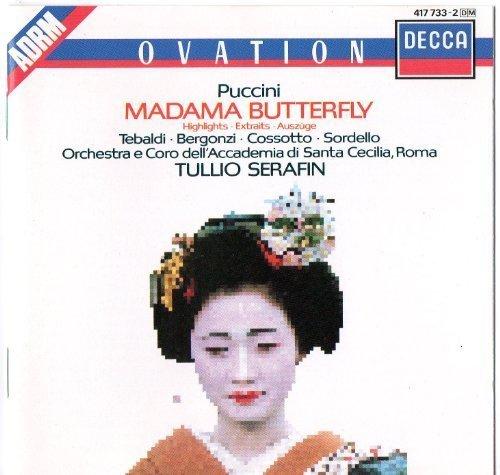 Bild 1: Puccini, Madame Butterfly-Highlights (Decca) Renata Tebaldi, Carlo Bergonzi, Fiorenza Cossotto, Chor & Orch. der Accademia di Santa Cecilia/Serafin