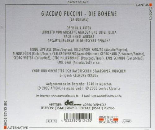 Bild 2: Puccini, Die Boheme (Cantus Classics) Trude Eipperle, Hildegarde Ranczak.. Chor & Orch. der Bayerischen Staatsoper München/Krauss