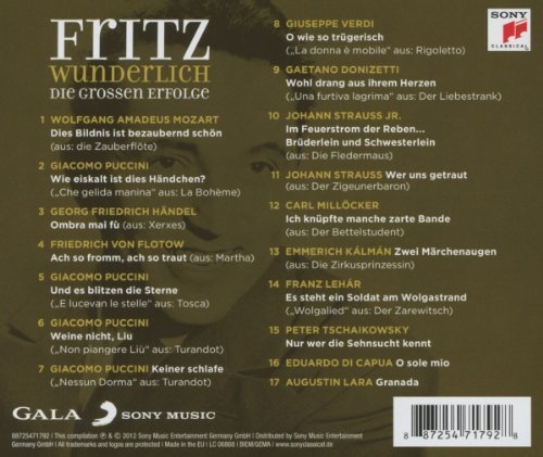 Bild 2: Fritz Wunderlich, Die grossen Erfolge (compilation, 2012)
