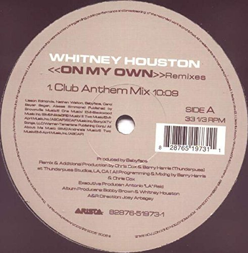 Bild 1: Whitney Houston, On my own-Remixes