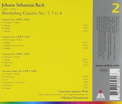 Bild 2: Bach, Brandenburg concertos Nos. 4, 5 & 6 (Teldec) Concentus Musicus Wien/Harnoncourt