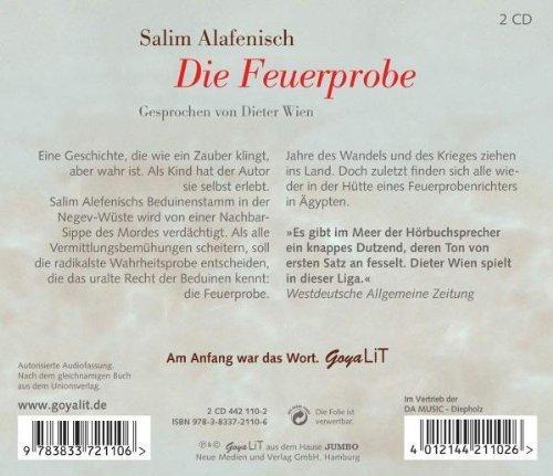 Bild 2: Salim Alafenisch, Die Feuerprobe (Gesprochen von Dieter Wien)
