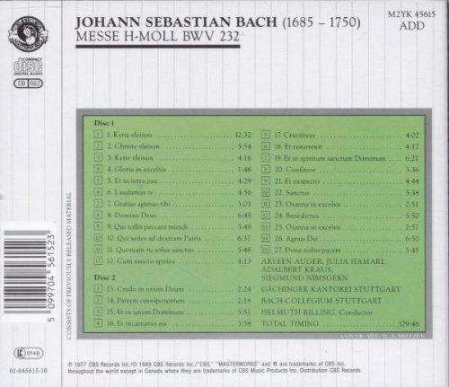 Bild 2: Bach, Messe in h-moll, BWV 232 (CBS) Gächinger Kantorei Stuttgart, Bach-Collegium Stuttgart, Helmuth Rilling