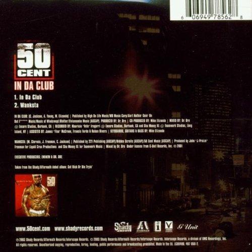 Bild 2: 50 Cent, In da club (2 tracks, 2003, cardsleeve)