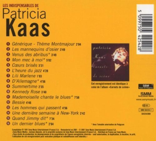 Bild 2: Patricia Kaas, Les indispensables de-Versions live (16 tracks, 1991)