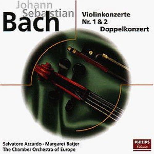 Bild 1: Bach, Violinkonzert Nr. 1, BWV 1041/Nr. 2 e-dur, BWV 1042/Doppelkonzert, BWV 1043/Partita Nr. 2, BWV 1004 (Philips) Salvatore Accardo, Margaret Batjer, Chamber Orchestra of Europe