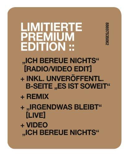 Bild 3: Silbermond, Ich bereue nichts (2009; 4 tracks +Video)