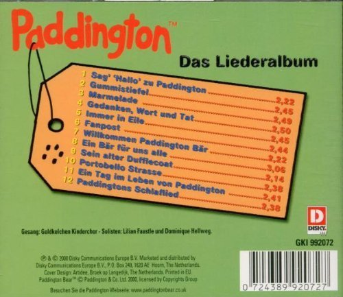 Bild 2: Paddington (Bear), Das Lieder Album