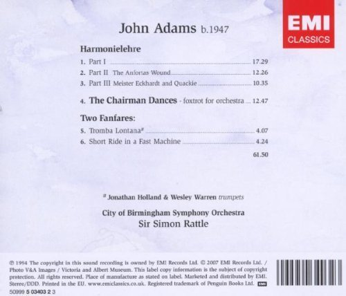 Bild 2: Adams, John, Harmonielehre/Chairman Dances/ Two fanfares (EMI) City of Birmingham Symphony Orchestra, Sir Simon Rattle